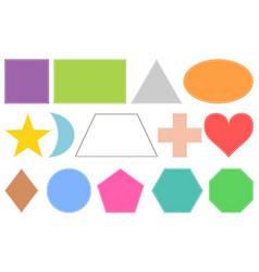 Basic geometric shapes isolated on white vector