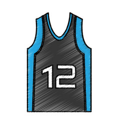 Basketball shirt uniform icon vector
