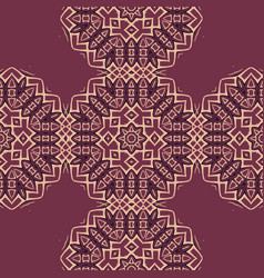 Boho tiles seamless pattern fabric colorful vector