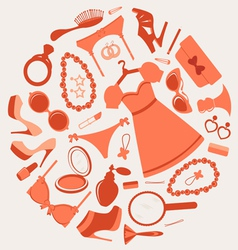 Fashion composition vector image vector image