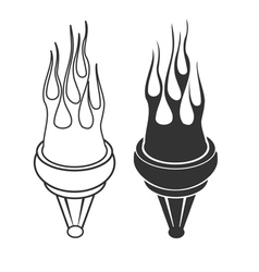 Flaming torch vector