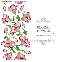 floral seamless border garland pattern flower vector image