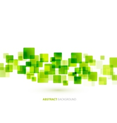 Green shiny squares technical background vector image