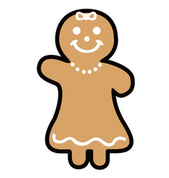 Isolated christmas gingerbread vector