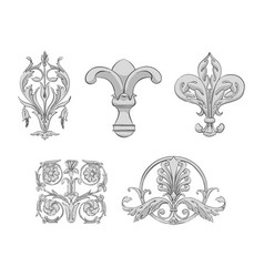 Luxury elements of rich decoration vector