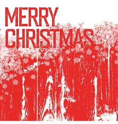 Merry christmas postcard template isolated up side vector