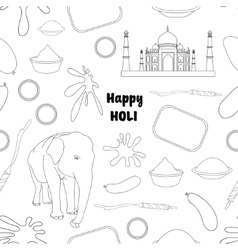 Pattern of holi element vector