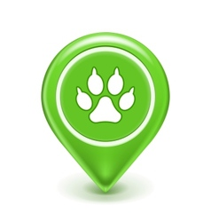 Pet Location Icon vector image vector image