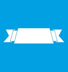 ribbon banner icon white vector image