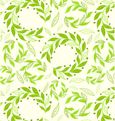 round-green leaves-pattern vector image