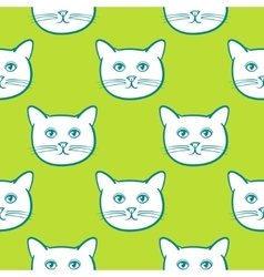 Seamless pattern with cute cats animal Children vector image vector image