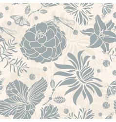 seamless retro floral vector image vector image