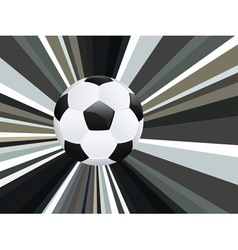 Soccer ball on rays background9 vector
