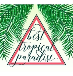Tropical paradise card with vector
