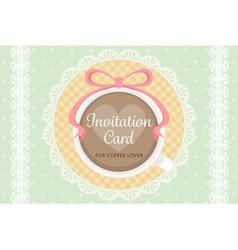 Warm cute elegant flat pastel invitation wedding vector