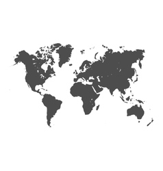 World map silhouette vector image vector image
