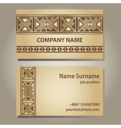 Visiting card template vector