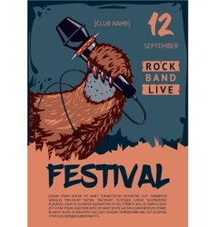 Music poster template for rock concert Pav is vector image
