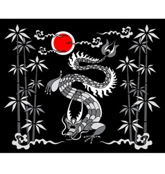 Dragon on a black background vector