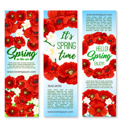 Banners for happy spring holiday greetings vector