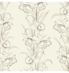 Spring isolated flowers fabric seamless pattern vector