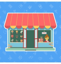 Shop or store vector