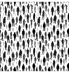 Large group of people seamless pattern vector