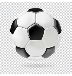 3d football isolated ball on transparent vector