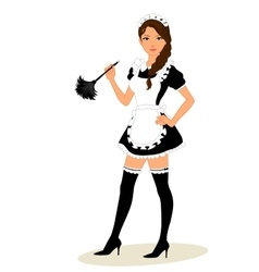 Maid costume vector