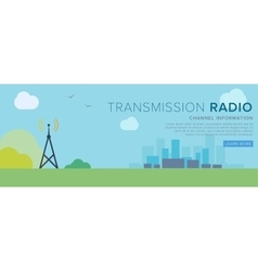Radio tower transfer radiosignal vector