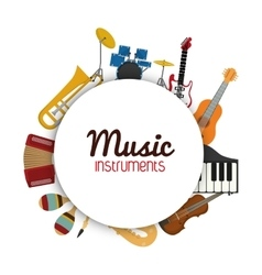 Icon set of music instrument graphic vector