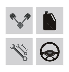Icon set over frames auto part design vector