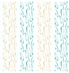 White peach pattern with waves and curls vector