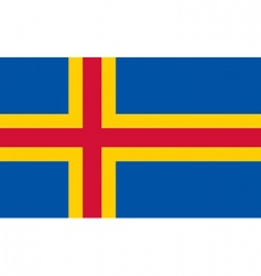 aland flag vector image vector image