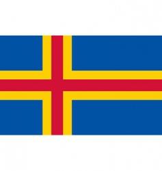 aland flag vector image