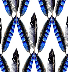 Blue feather vector image vector image