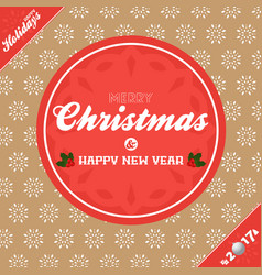 Christmas banner background brown and red vector