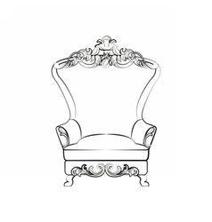 Classic royal armchair vector image vector image