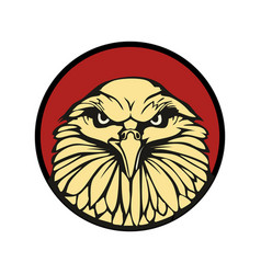 Eagle in red circle flat for vector