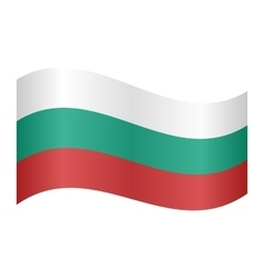 Flag of bulgaria waving vector