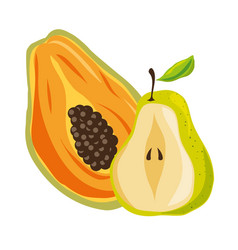 fresh and healthy fruit vector image
