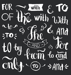 hand drawn ampersands and catchwords vector image