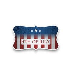 happy 4th of july - independence day banner vector image