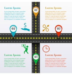 Intersection road infographic vector