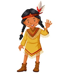 Native american indians greeting vector