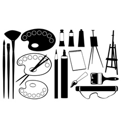 painting tools vector image