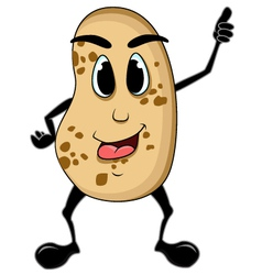 potato cartoon thumb up vector image vector image