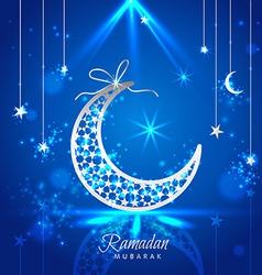 Ramadan Kareem celebration greeting card decorated vector image vector image