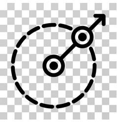 Round area exit icon vector