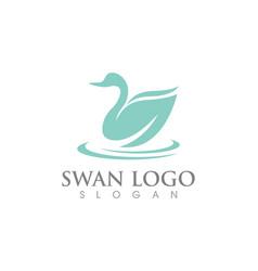 swan logo template vector image vector image
